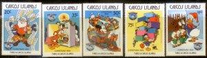 Caicos Islands  Disney Christmas SC#  54-8 MNH CH1