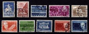Denmark 1962-63 Commemoratives, Complete Sets [Used]