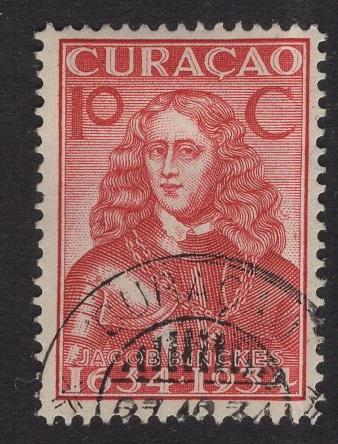 Netherlands Antilles  #116  1934 used  Curacao  300 yrs  10C