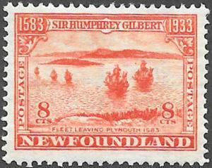 Newfoundland Scott Number 218 FVF HR