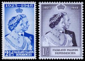 Falkland Islands Dependencies Scott 1L11-1L12 (1948) Mint NH VF, CV $7.00 C