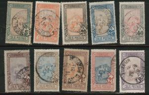 Tunis Tunisia Scott Q1-10 used parcel post 1906 set