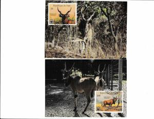 Mali - Fauna WWF - 4 Maximum Cards - GIANT ELAND