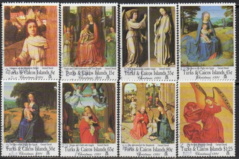 Turks & Caicos Islands 1991 Christmas - Religious Paintings by Gerard David CTO