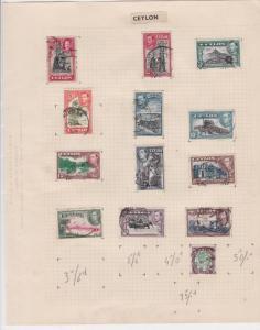 ceylon stamps page  ref 18881