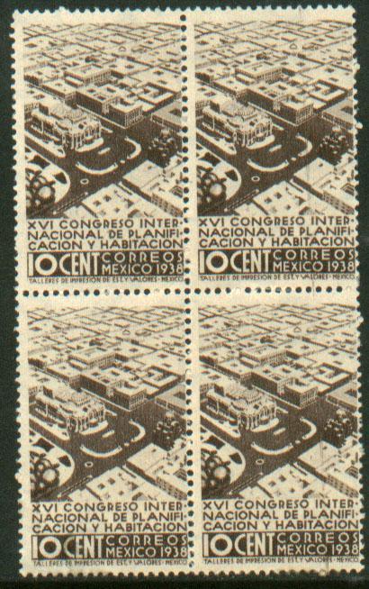 MEXICO 743, 10c Planification Congress. Unused Block 4 (121)