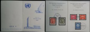 1959 United Nations UN New York Trusteeship Council + Switzerland Geneve folder