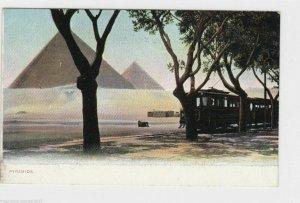 VINTAGE POST CARD , EGYPT , PIRAMIDS  .  REF  P20