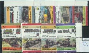 78413 - UNION Islands - STAMPS - TRAINS  1984 - 16 Values MNH - SPECIMEN