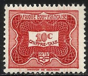 French Equatorial Africa Postage Due 1947 Scott# J12 MH