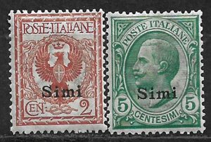 COLLECTION LOT OF 2 ITALY OFFICES SIMI MH 1912+ CV = $56 2 SCAN