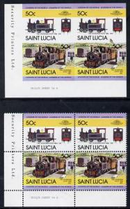 St Lucia 1984 Locomotives #2 (Leaders of the World) 50c '...