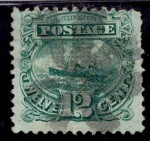 US Stamp #117 12c Green SS Adriatic USED SCV $130
