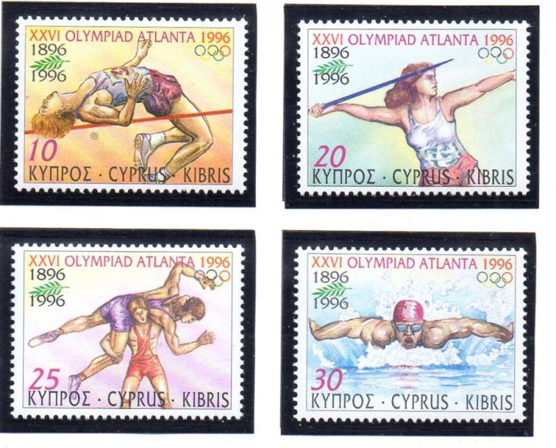 Cyprus Sc 885-8 1996 Atlanta Olympics  stamp set mint NH
