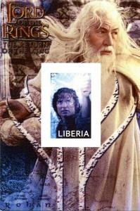 LIBERIA SHEET IMPERF CINEMA ACTORS LORD OF THE RINGS