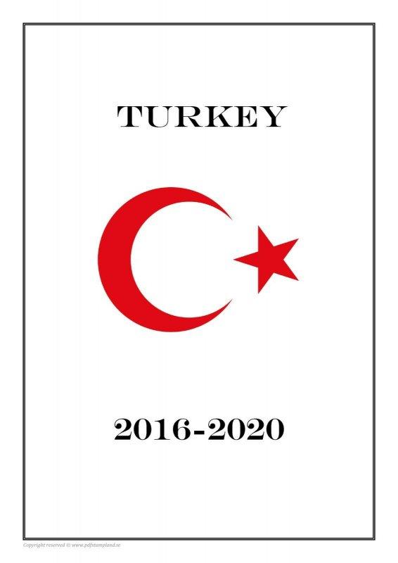 Turkey 2016-2020 PDF(DIGITAL) STAMP ALBUM PAGES