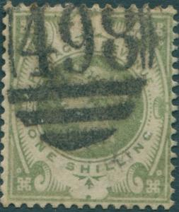 Great Britain 1887 SG211 1/- dull green QV FU