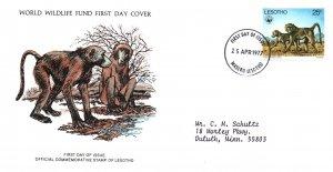 Lesotho 232 Monkey Typed FDC