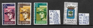 SPAIN Espana - used - from collection - see more in shop - 1962 1963