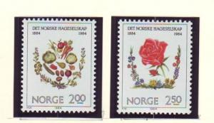 Norway Sc 843-4 1984 Horticulture stamp set mint NH