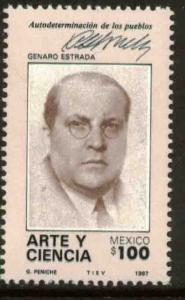 MEXICO 1483, Centenary of the Birth of Genaro Estrada MINT, NH. F-VF.