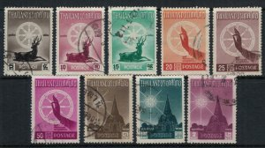 Thailand #321-9  CV $14.50  Buddhism issue