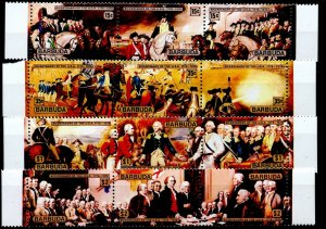 BARBUDA Sc#234-7, 235d, 237d 1976 USA Bicentenary 4 strips + 2 SS Mint NH