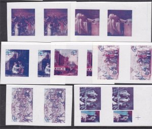 VIETNAM (NO)^^^RARER   IMPERFS  MNH  TRIAL  COLOR PAIRS  $$  @f 8474viet22