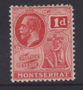 Montserrat Sc#57 MH - paper adhesion on back