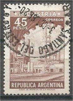 ARGENTINA, 1967, used 45p, Industria, Scott 825