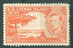 Cayman # 100  1/4d. George VI Beach Scene (1) Unused VLH