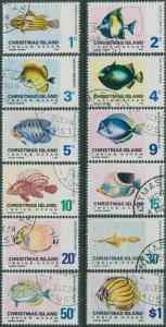 Christmas Island 1968 SG22-31 Fish set FU