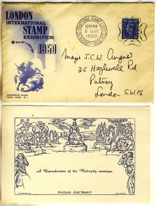 A Cover of The London International Stamp Exhibition May 6th To May 13th  1950