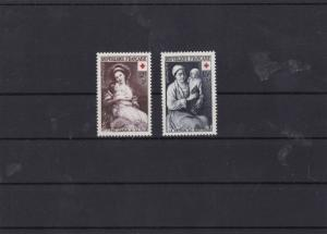 france 1953 red cross fund  mnh  stamps set cat £22  ref 7199