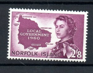 Norfolk Island 1960 2s 8d Government SG40 mint VLHM WS18714