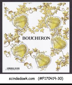 FRANCE - 2019 BOUCHERON HEARTS - MIN. SHEET MNH