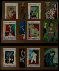 Central Africa 450-53,C245-46 MNH s/s Painting/Picasso
