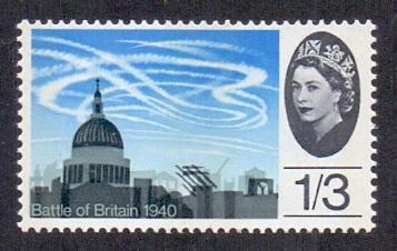 Great Britain 1965 MNH battle of Britain Air battle  St Paul`s Cathedral 1s 3d #