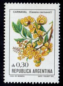Argentina #1522  Cassia Carnaval Flower, 1983 MNH