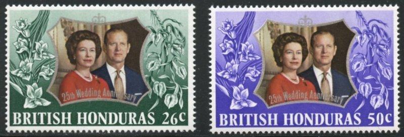 British Honduras Scott 306-307 MXFNH - SCV $0.90