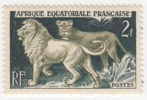 French Equatorial Africa, Scott #196 (1), MH