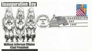 Clinton Inaugural cover Noble Catalog number WJC-II-252v