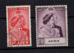 Aden 1948 Silver Wedding SG30-31 very fine used WS23691