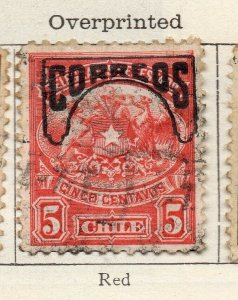 Chile 1904 Early Issue Fine Used 5c. Optd NW-11418