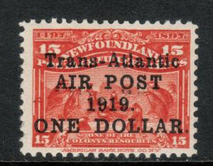 Newfoundland #C2a Very Fine Never Hinged **With Certificate**