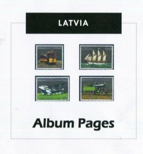 Latvia - CD-Rom Stamp Album 1918- 2018  Color Illustrated Album Pages