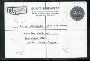 MALAYA PERLIS COVER (P0509B) 1990 $1 RLE JUBLI PERAK  TO KL