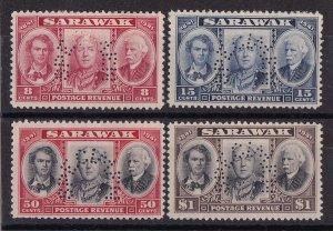 SARAWAK 1946 Centenary set 8c - $1 SPECIMEN