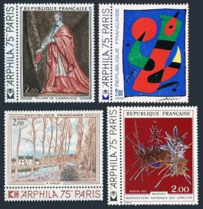 France 1394-1397,MNH. ARPHILA-1975G.Mathieu.P.de Champaigne,J.Miro,A.Sisley.