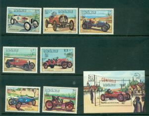 Laos - Sc# 561-8. 1984 Antique Racing Cars. MNH $5.65.
